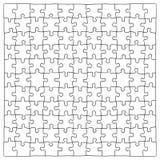 Übergeben Sie gezogene Puzzlestücke, 121 verschiedene Stücke, die extrahiert werden können Stockbilder