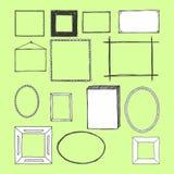 Übergeben Sie gezogene Rahmen Stockfotografie