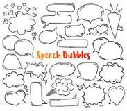 Übergeben Sie gezogene Sprache-Luftblasen lizenzfreie abbildung