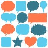 Übergeben Sie gezogene Sprache-Luftblasen Stockfotos