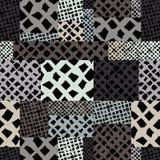 Übergeben Sie gezogenen Linien Beschaffenheiten nahtloses Muster, gezeichnetes Ba des Vektors Hand Lizenzfreie Stockfotografie