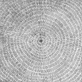Übergeben Sie gezogenen Vektorhintergrund mit einem Kreismuster stockbild