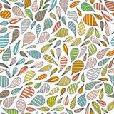 Übergeben Sie gezogenes abstraktes nahtloses Muster in Memphis-Art Bunte helle Farben des Vektors auf weißem Hintergrund Stockfotografie