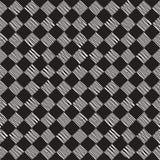 Übergeben Sie gezogenes nahtloses wiederholendes Muster mit Kontrolleurlinien Mit Ziegeln decken Grungy freihändige Hintergrundbe stockfotografie