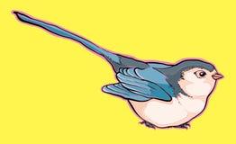 """Übergeben Sie gezogenes Vogelvektor †""""Vorratillustration lizenzfreie abbildung"""