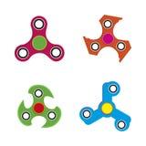 Übergeben Sie Spinnerspielzeug die flache Art, lokalisiert auf weißem Hintergrund Lizenzfreies Stockbild