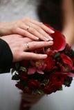 Übergibt Jungvermählten Lizenzfreies Stockbild