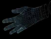 Übergibt Network Connections, Richtung der Illustration der Technologie 3d Lizenzfreies Stockbild