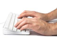 Übergibt Tastatur Stockfotografie