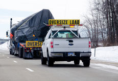 Übergroße LKW-Last Lizenzfreies Stockfoto