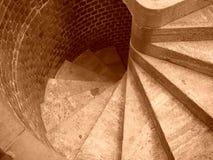Überhaupt wickelnde Treppen Stockbild