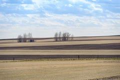 Überholte Scheune und Felder Lizenzfreie Stockbilder