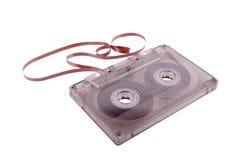 Überholter Musikspeicher. Audiokassette und Band Stockfotos