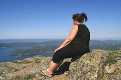 Überladene Frau Lizenzfreies Stockfoto