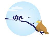 Überladener Vogel. Lizenzfreies Stockfoto