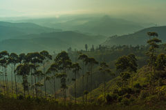 Überlagerte Berge Lizenzfreie Stockfotos