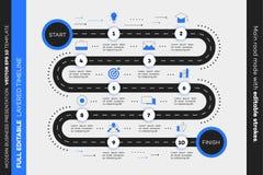 Überlagerte Infographic-Zeitachse Vektor-Schaltplan, Schablone für moderne Geschäfts-Darstellung, Jahresberichte, Pläne stock abbildung