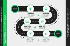 Überlagerte Infographic-Zeitachse Vektor-Schaltplan, Schablone für moderne Geschäfts-Darstellung, Jahresberichte, Pläne lizenzfreie abbildung