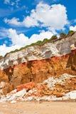 Überlagerte Klippen am Hunstanton-Vertikalenbild Lizenzfreie Stockbilder
