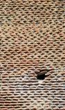 Überlagerte Ziegelsteinstützwand Lizenzfreie Stockbilder