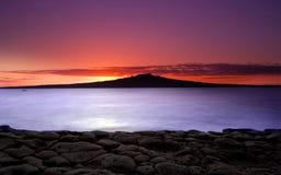 Überlagerter Sonnenaufgang Lizenzfreies Stockfoto