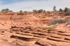 Überlagertes Sandsteinzutageliegen Lizenzfreie Stockfotos