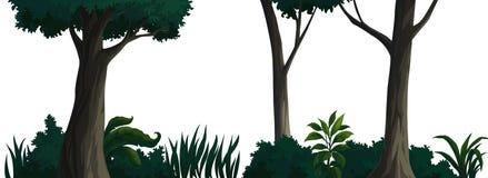 Überlagerung-Bild gemalt im Wald Stockfotos
