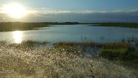Überlandüberschwemmung Stockbilder