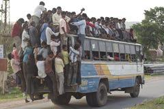 Überlastungsbus lizenzfreie stockfotos