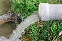 Überlaufrohrentwässerung Lizenzfreies Stockbild