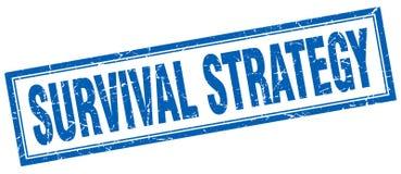 Überlebensstrategie-Quadratstempel lizenzfreie abbildung