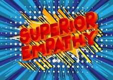 Überlegene Empathie - Comic-Buch-Artwörter vektor abbildung