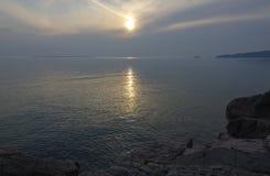 Überlegener See Stockbild