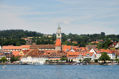Überlingen. Is an idyllic  town at the banks of  lake Constance in Germany. Here you can take a ferry or a boat for a round trip. In summer, there are many Stock Image