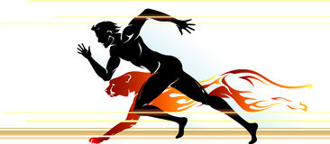 Übermenschlicher Geschwindigkeits-Läufer Stockfotografie