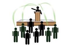 Übermittlung von Ideen u. von Führung Lizenzfreie Stockbilder