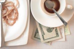 Überprüfen Sie das Restaurant lizenzfreie stockbilder