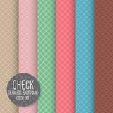 Überprüfen Sie diagonales nahtloses Muster. Geometrischer Vektorhintergrund. Stockbilder