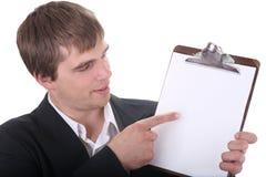 Überprüfen Sie die Angebotsonderkommandos Stockfoto