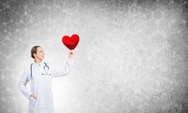 Überprüfen Sie Ihr Herz lizenzfreies stockfoto