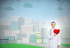 Überprüfen Sie Ihre Herzgesundheit Lizenzfreies Stockbild