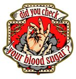 Überprüfen Sie Ihren Blutzucker lizenzfreies stockfoto