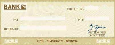 Bankscheck Lizenzfreie Stockbilder