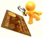 Überprüfen von Kreditkarteidentität Lizenzfreie Stockfotos