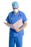 Überprüfenanmerkungen des Chirurgen. Stockfotos