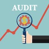 Überprüfende wirtschaftliche Statistik Finanzprüfer Vektor illustr lizenzfreie abbildung