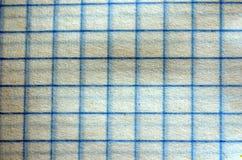 Überprüfte Papier-, verschiedene Farben und Beschaffenheiten Lizenzfreies Stockfoto