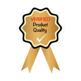Überprüfte Produktqualität stockfoto