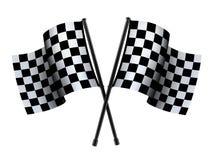 Überprüfte Sportflagge Stockfoto
