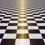 Überprüfter Fußboden stock abbildung